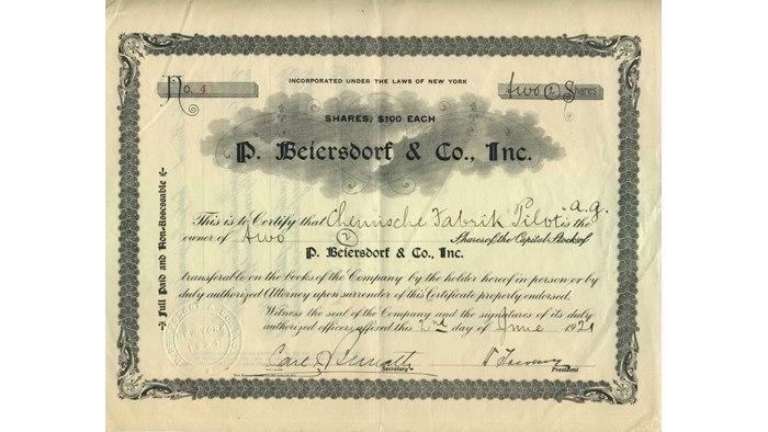 Chronologie de beiersdorf de 1882 aujourd 39 hui for Chambre de commerce new york